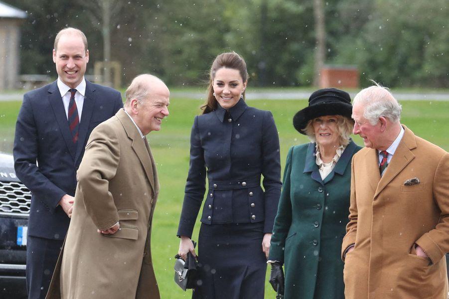 William, Kate, Camilla et CharlesàLoughborough le 11 février 2020
