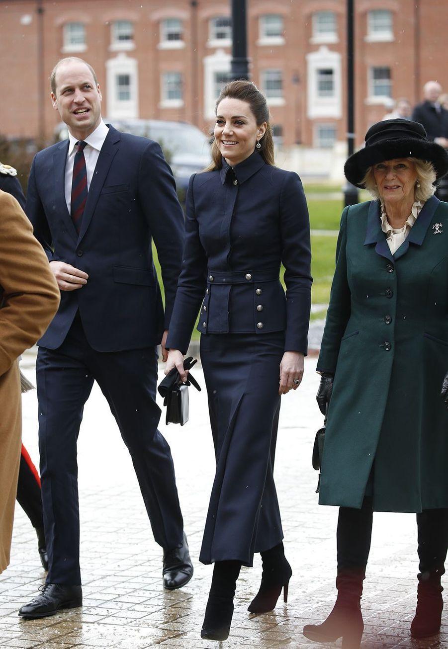 William, Kate et CamillaàLoughborough le 11 février 2020