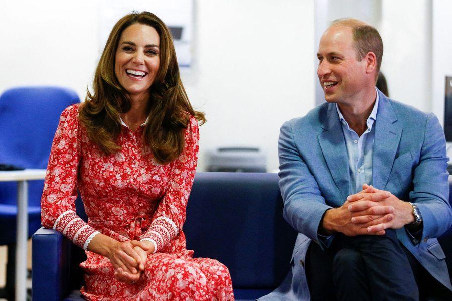 Kate Middleton et le prince William en visite au London Bridge Jobcentre le 15 septembre 2020