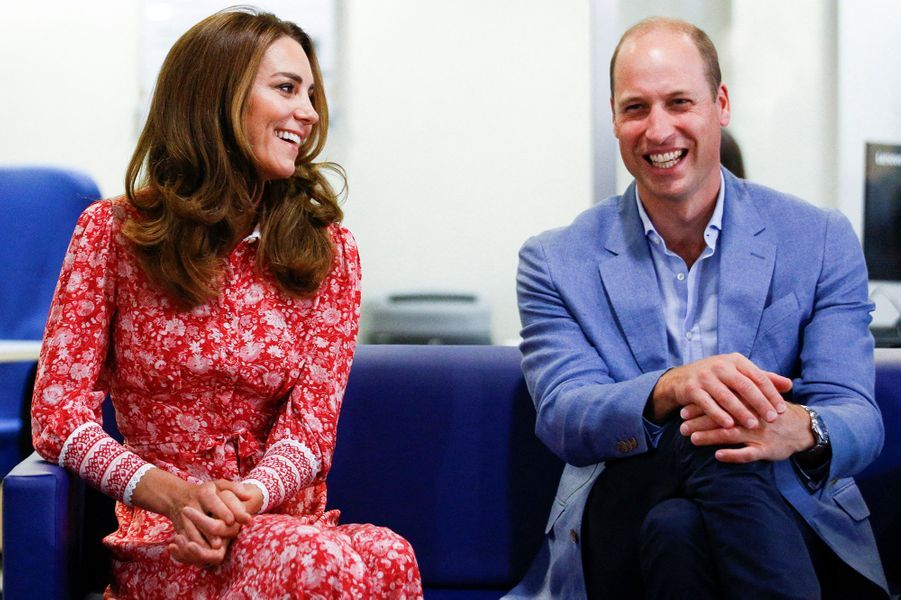 Kate Middleton et le prince William en visite auLondon Bridge Jobcentre le 15 septembre 2020