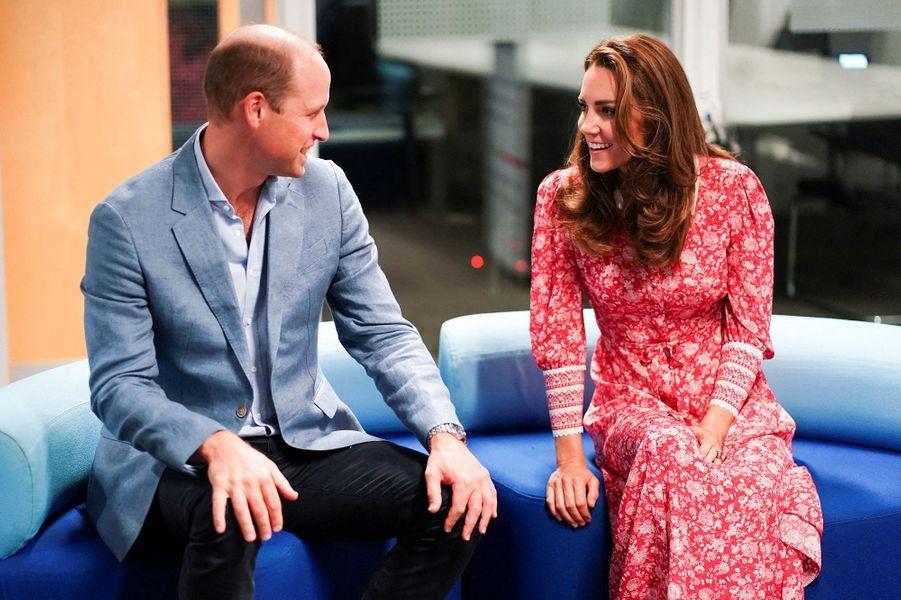 Le prince William et Kate Middleton en visite auLondon Bridge Jobcentre le 15 septembre 2020