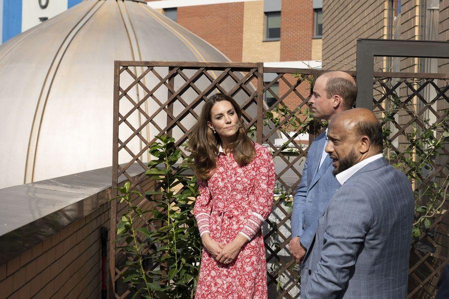 Kate Middleton et le prince William visitent lamosquée d'East London le 15 septembre 2020