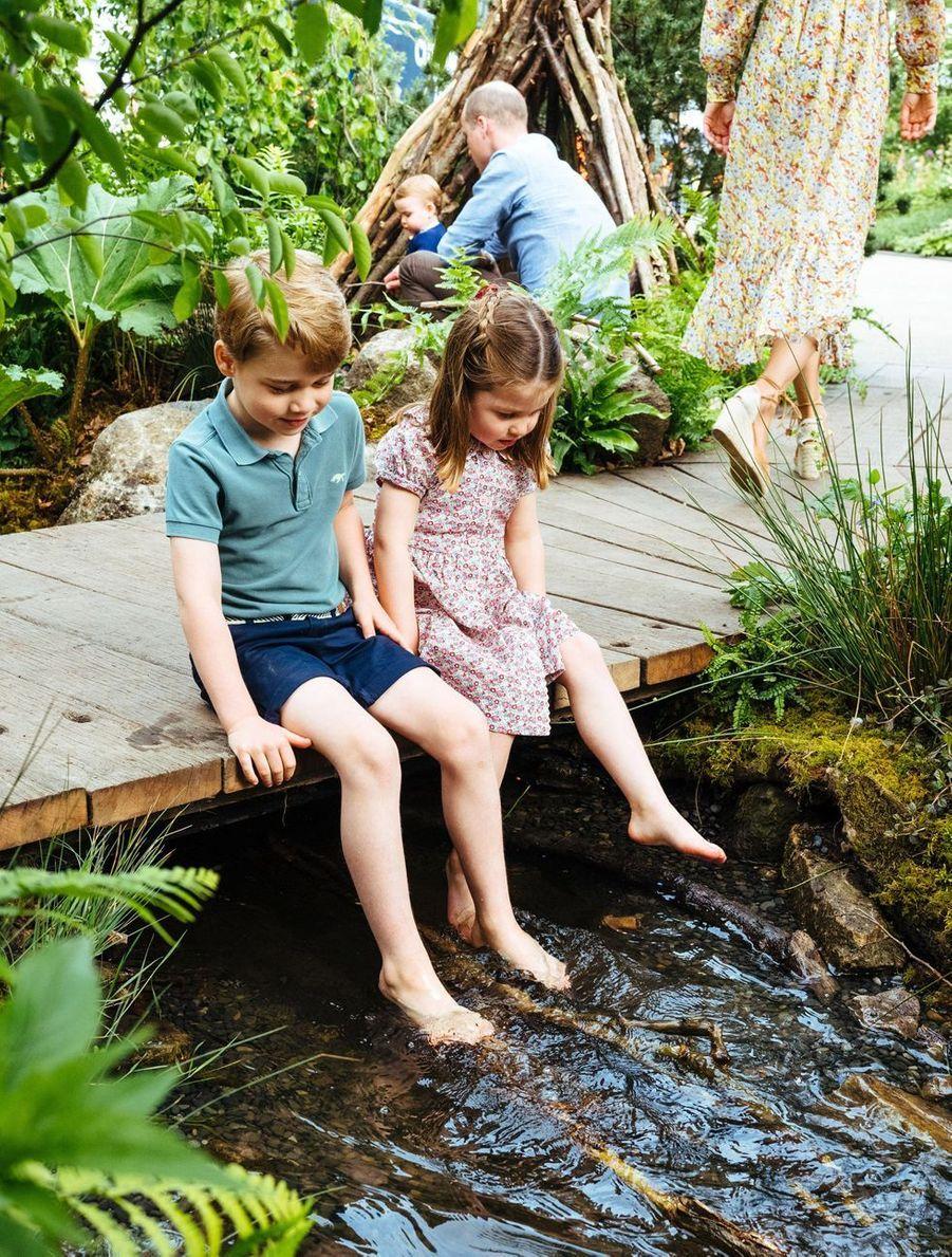 """George et Charlotte de Cambridge au jardin """"Back to Nature"""" de Londres, le 19 mai 2019"""