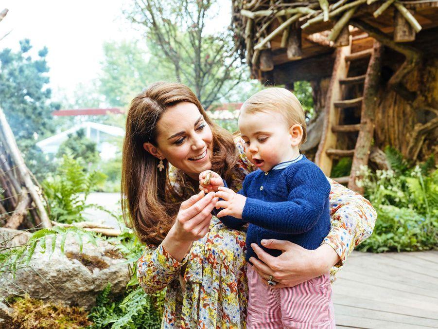 """Kate et Louis de Cambridge au jardin """"Back to Nature"""" de Londres, le 19 mai 2019"""