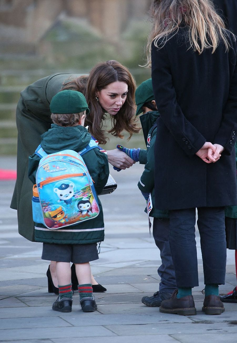 Kate Middleton lors de sa visite à Bradford avec le prince William le 15 janvier 2020.