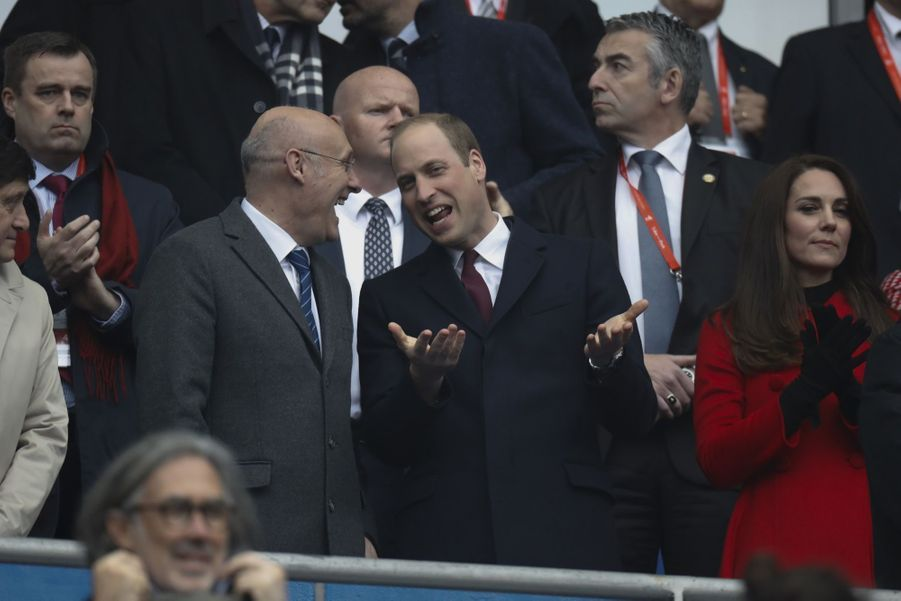 Kate Middleton Et Le Prince William Au Stade De France Pour Le Match De Rugby France Pays De Galles 13