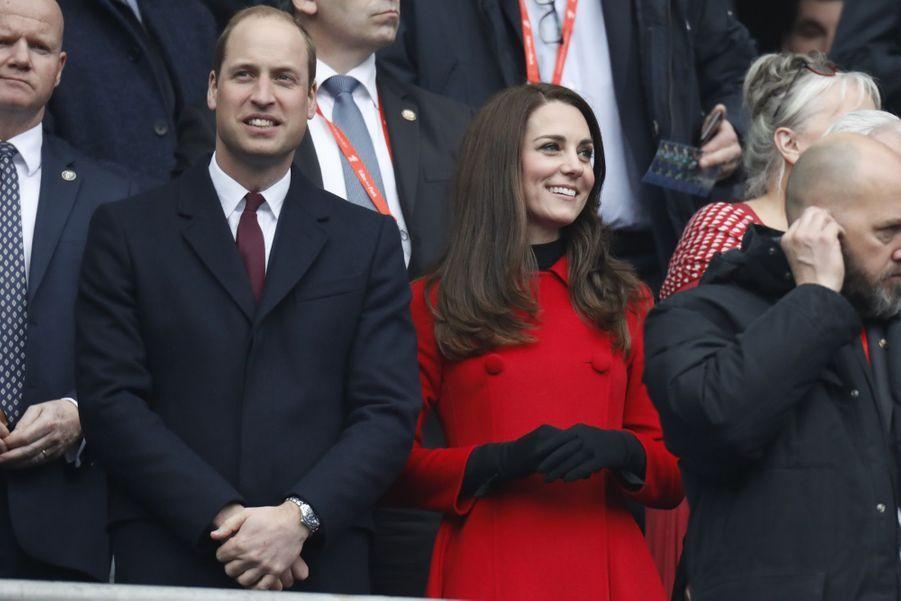 Kate Middleton Et Le Prince William Au Stade De France Pour Le Match De Rugby France Pays De Galles 14
