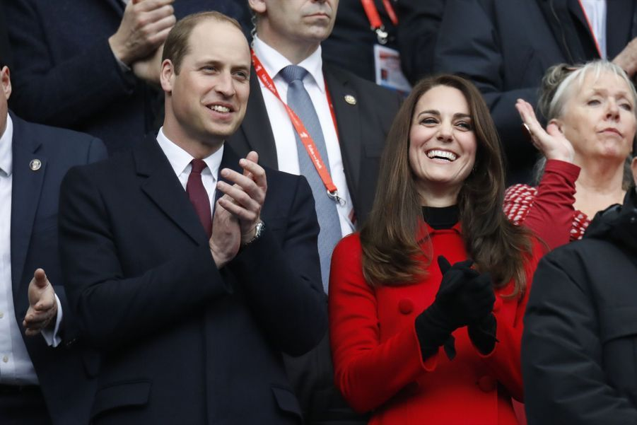 Kate Middleton Et Le Prince William Au Stade De France Pour Le Match De Rugby France Pays De Galles 18