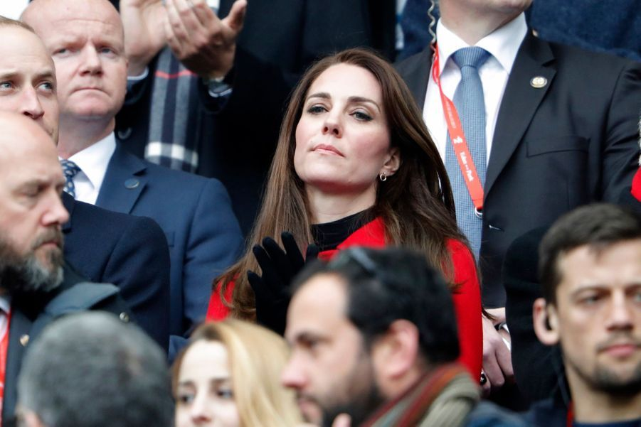 Kate Middleton Et Le Prince William Au Stade De France Pour Le Match De Rugby France Pays De Galles 28