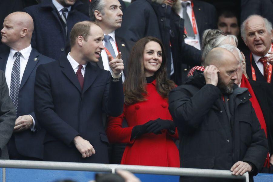Kate Middleton Et Le Prince William Au Stade De France Pour Le Match De Rugby France Pays De Galles 9