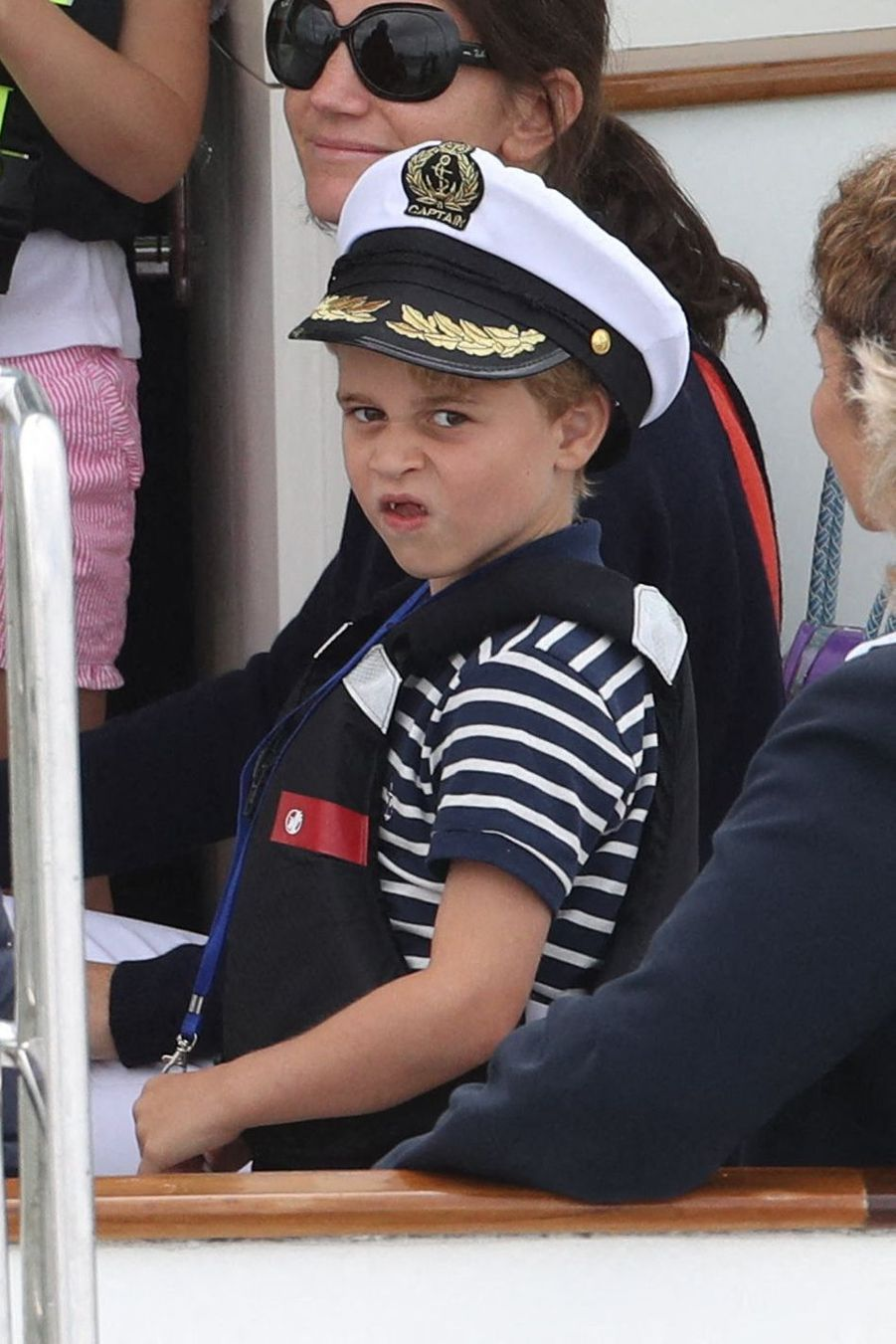 George de Cambridge à Cowes sur l'île de Wight le 8 août 2019