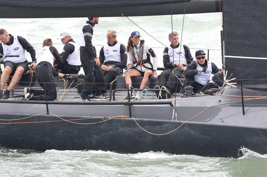 Kate Middleton à Cowes surl'île de Wightle 8 août 2019