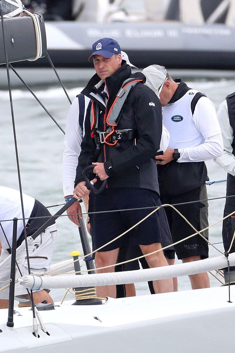 Le prince William à Cowes sur l'île de Wight le 8 août 2019