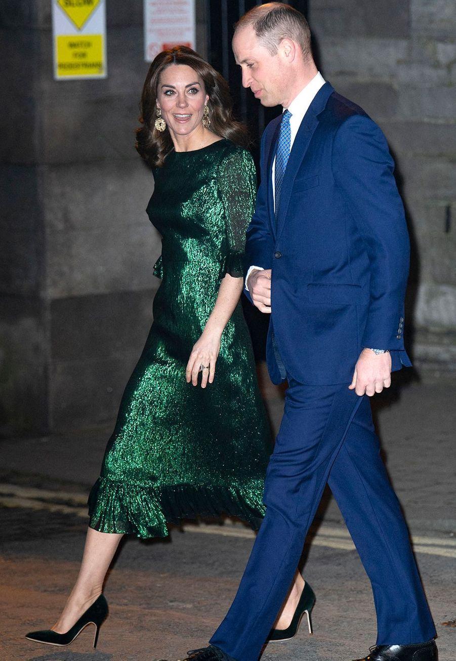 Kate Middleton et le prince Williamse rendent à une soirée organisée dans les entrepôts de la marque de bière Guinness à Dublin le 3 mars 2020.