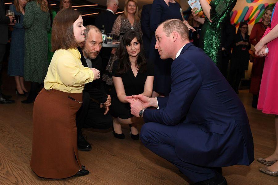 Kate Middleton et le prince Williamlorsd'une soirée organisée dans les entrepôts de la marque de bière Guinness à Dublin le 3 mars 2020.