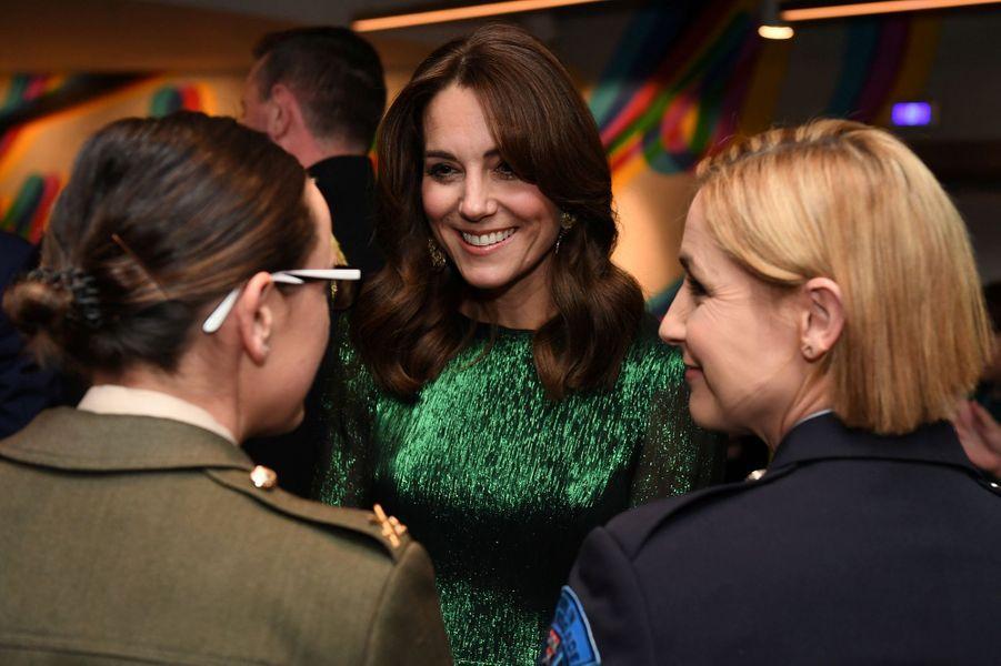 Kate Middletonlorsd'une soirée organisée dans les entrepôts de la marque de bière Guinness à Dublin le 3 mars 2020.