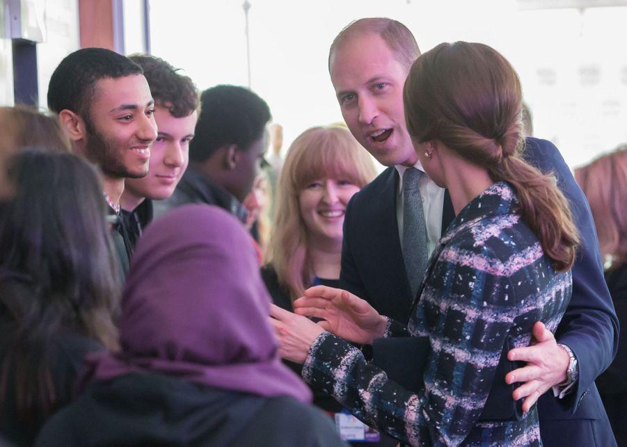 Kate et William en visite à Manchester