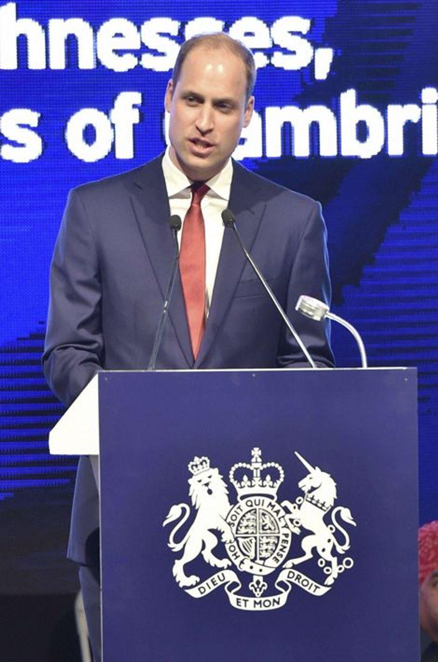 Le prince William à New Delhi, le 11 avril 2016