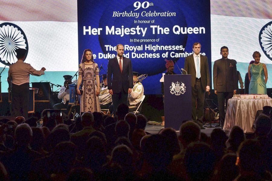 Le prince William et la duchesse Catherine à New Delhi, le 11 avril 2016