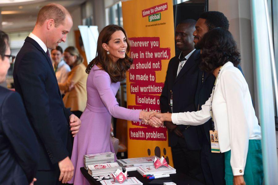 Kate et William auGlobal Ministerial Mental Health Summit, mardi à Londres.