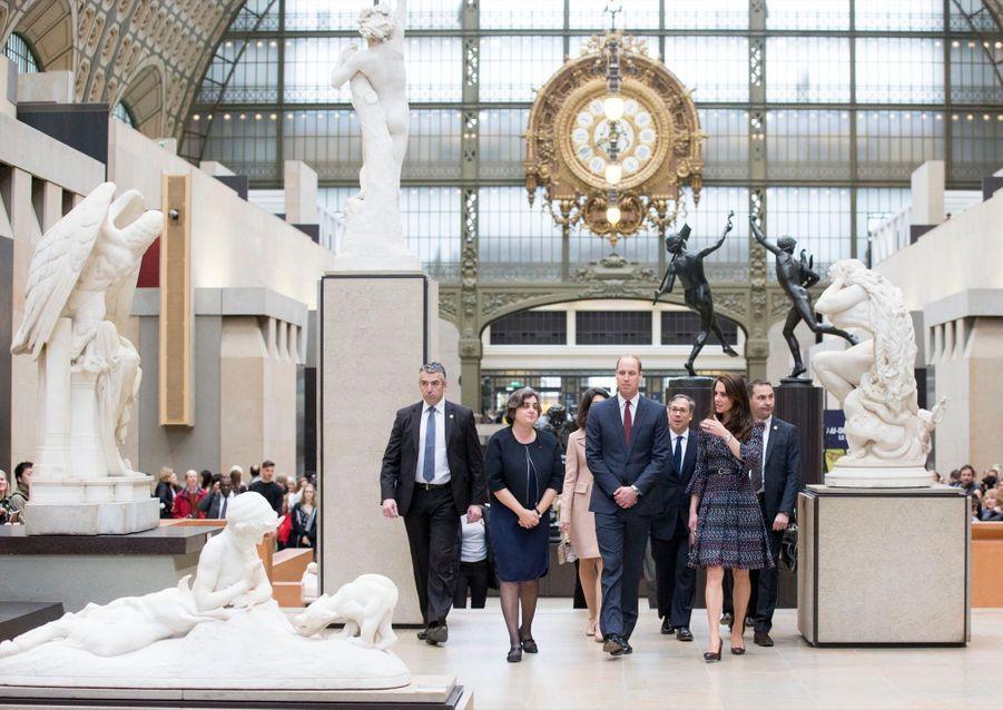 Kate Middleton Et Le Prince William Au Musée D'Orsay 14