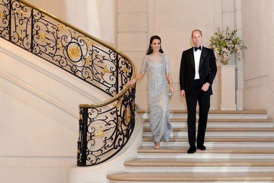 Kate Middleton et le prince William au dîner de l'ambassade britannique à Paris