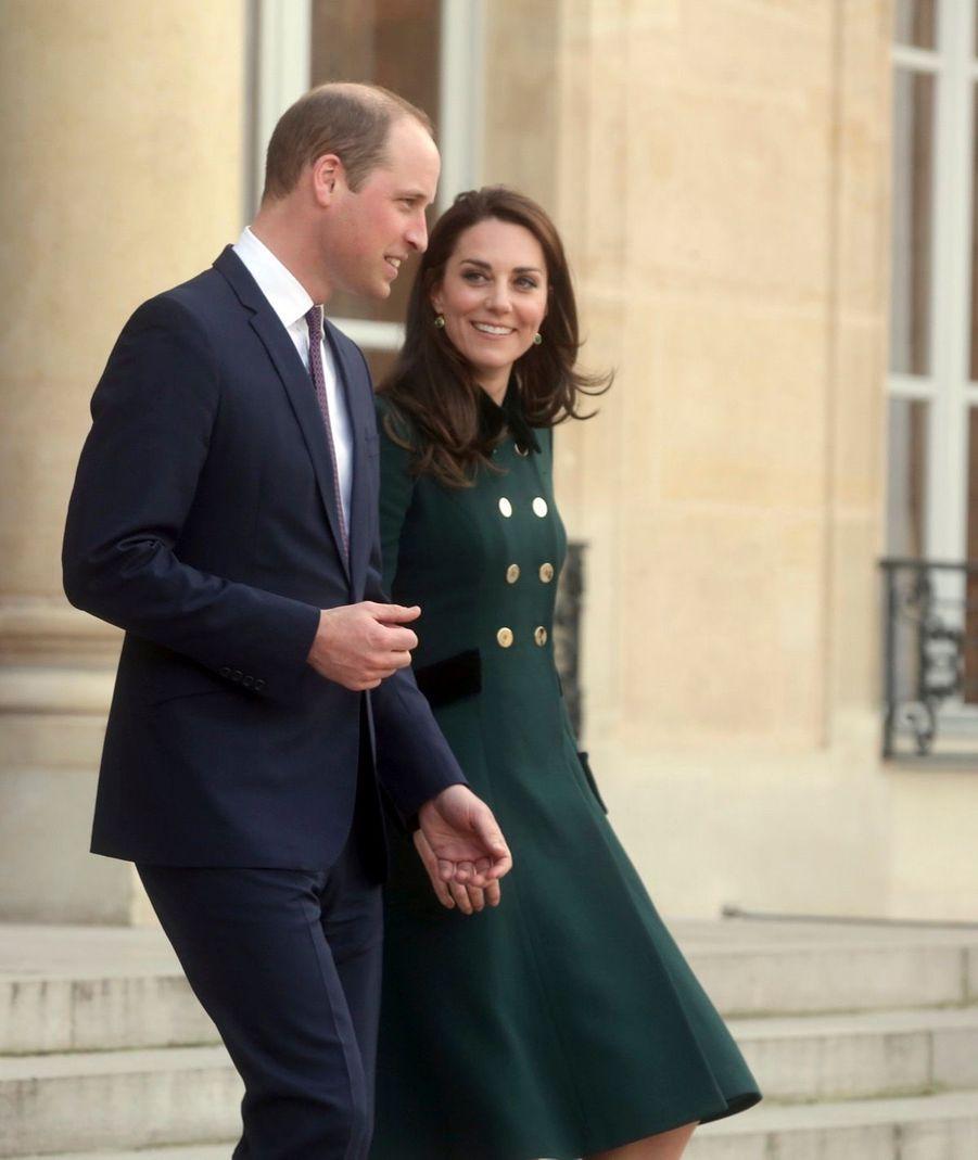 Le Prince William Et Kate Middleton Au Palais De L'Elysée