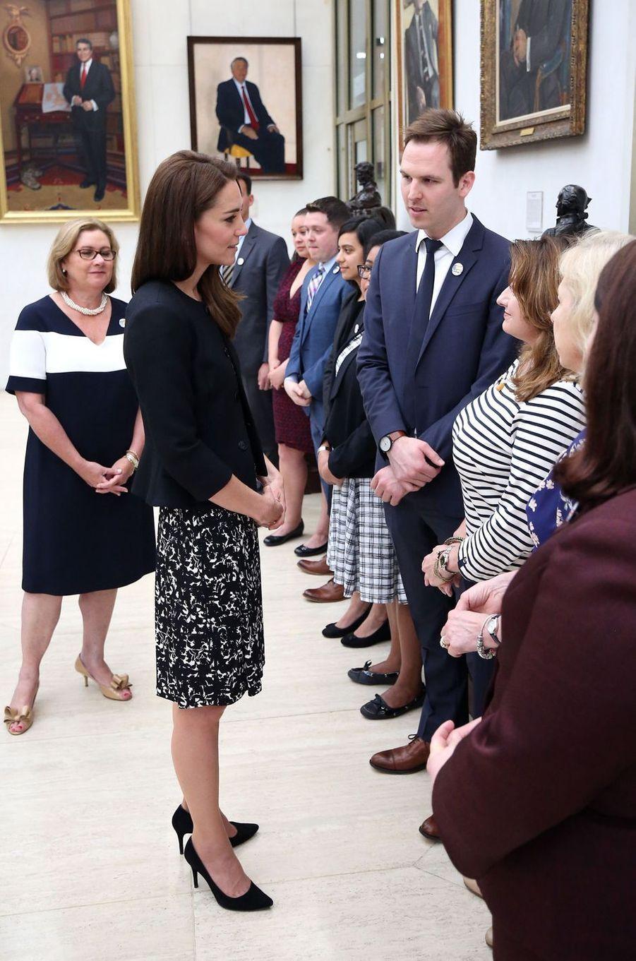 La duchesse Catherine de Cambridge à l'ambassade des Etats-Unis à Londres, le 14 juin 2016