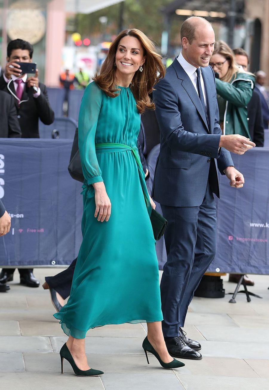 Kate Middleton et le prince William à Londres le 2 octobre 2019