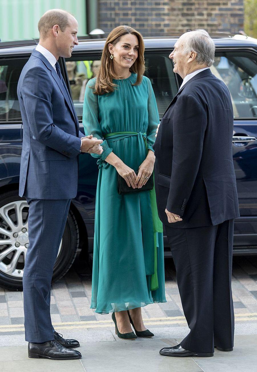 Kate Middleton, le prince William et l'Aga Khan à Londres le 2 octobre 2019