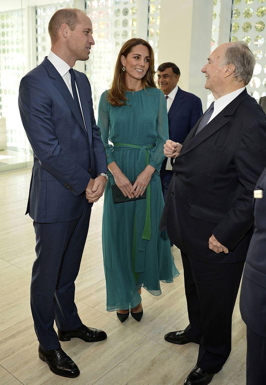 Kate Middleton, le prince William et l'Aga Khan