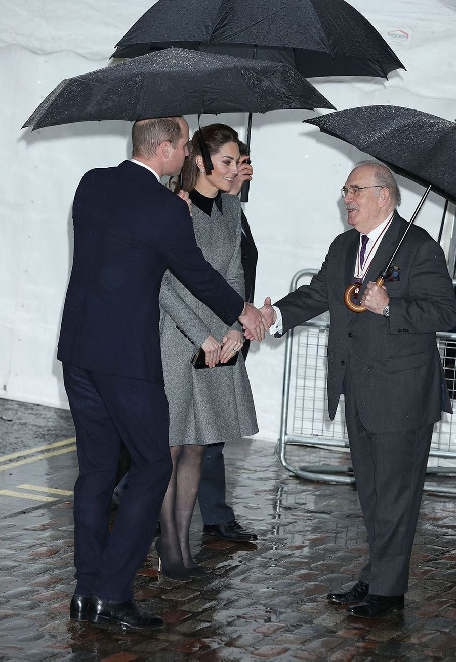 Kate Middleton et le prince William à Londres le 27 janvier 2020