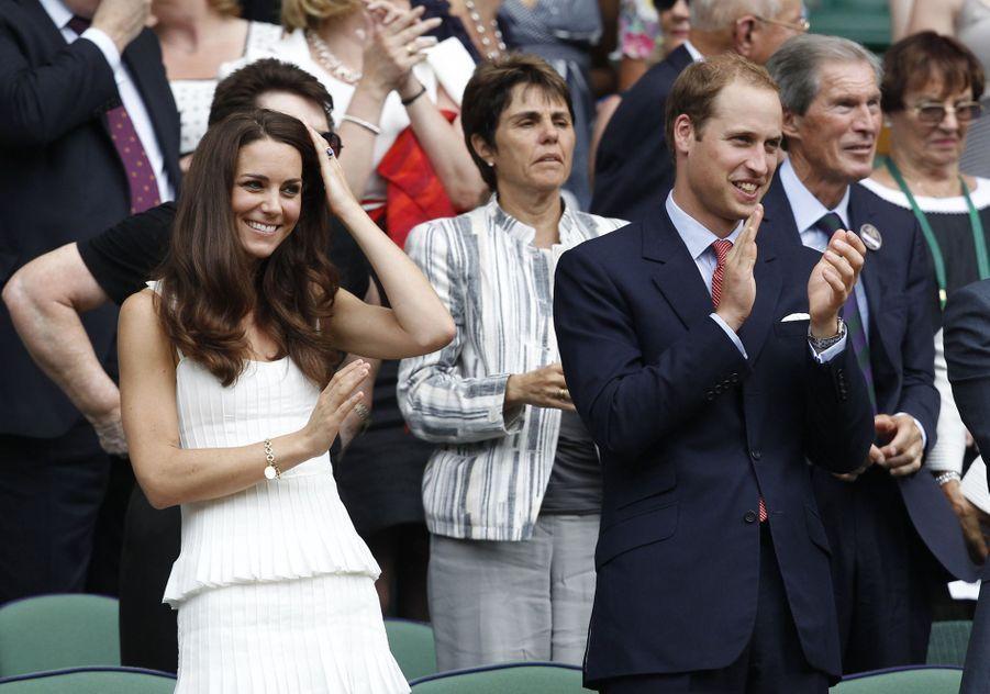 Kate Middleton et le prince William à Wimbledon en 2011