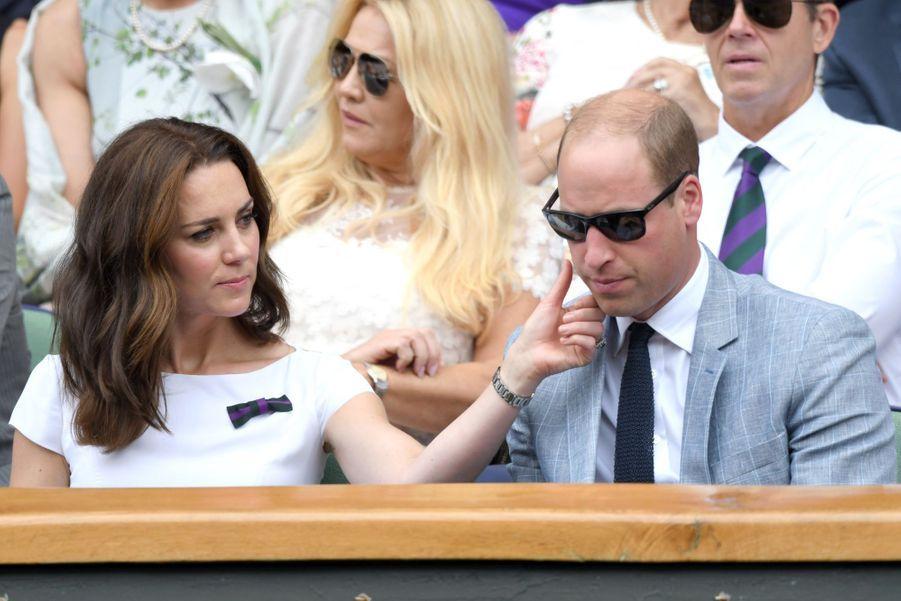 Kate Middleton et le prince Williamà Wimbledon en 2017