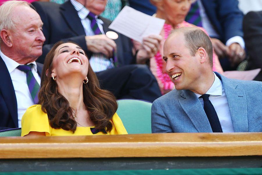 Kate Middleton et le prince William à Wimbledonen 2018