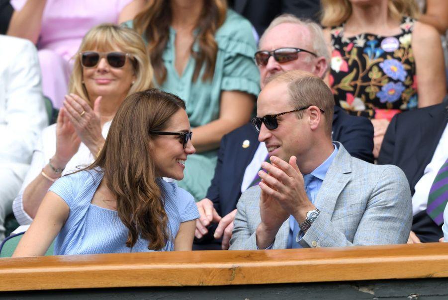 Kate Middleton et le prince Williamà Wimbledon en 2019