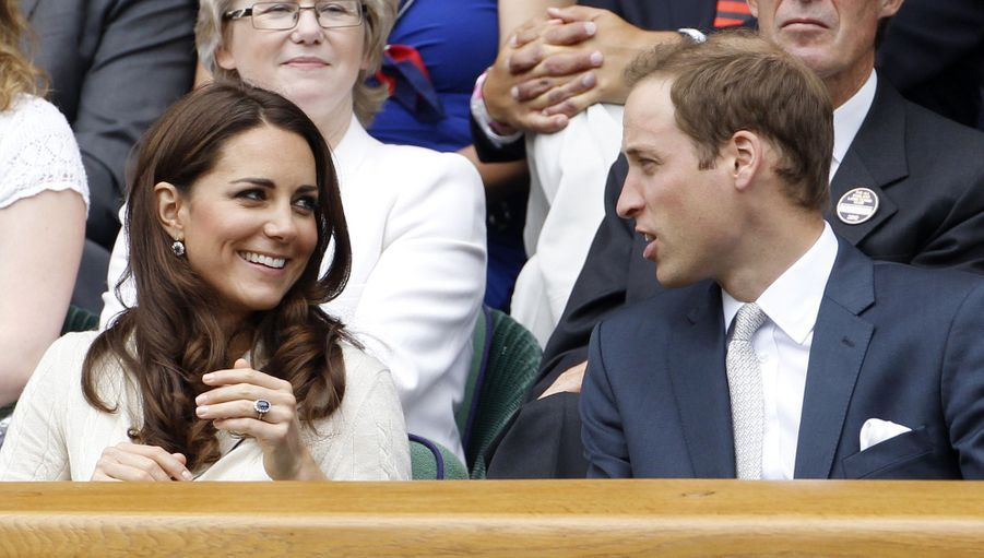 Kate Middleton et le prince Williamà Wimbledon en 2012