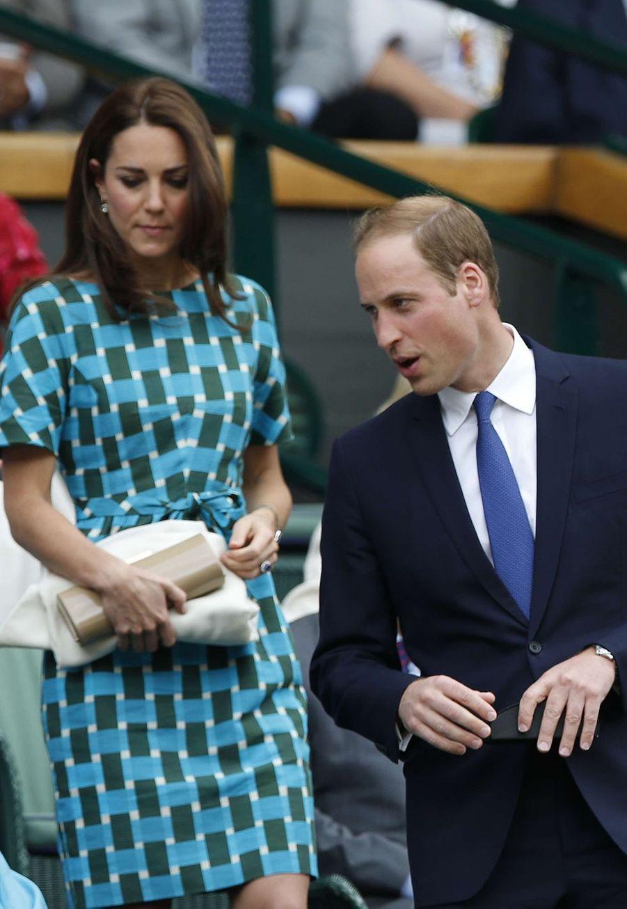 Kate Middleton et le prince Williamà Wimbledon en 2014