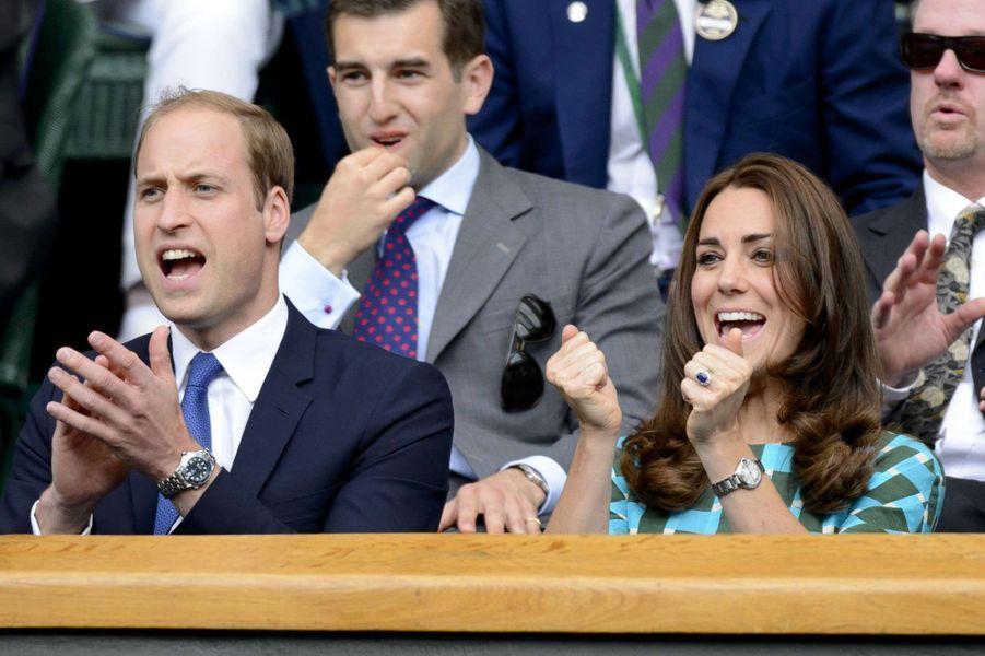 Kate Middleton et le prince William à Wimbledonen 2014