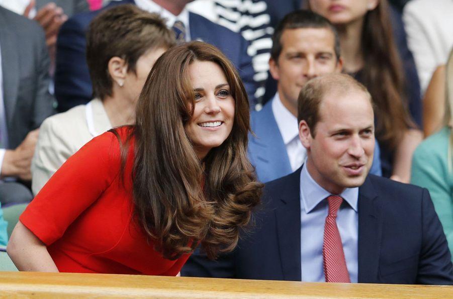 Kate Middleton et le prince William à Wimbledonen 2015