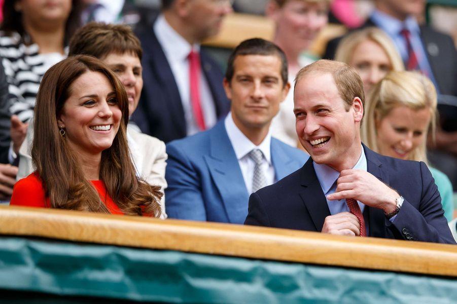 Kate Middleton et le prince Williamà Wimbledon en 2015