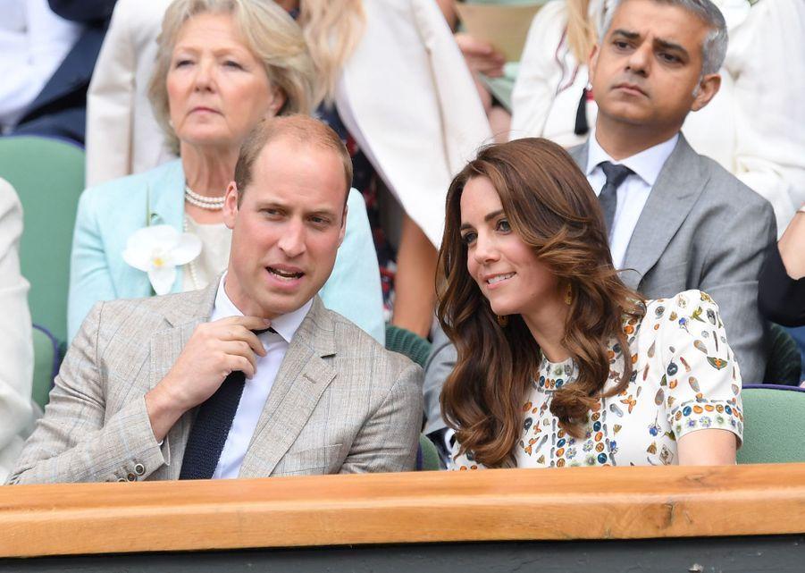 Kate Middleton et le prince Williamà Wimbledon en 2016
