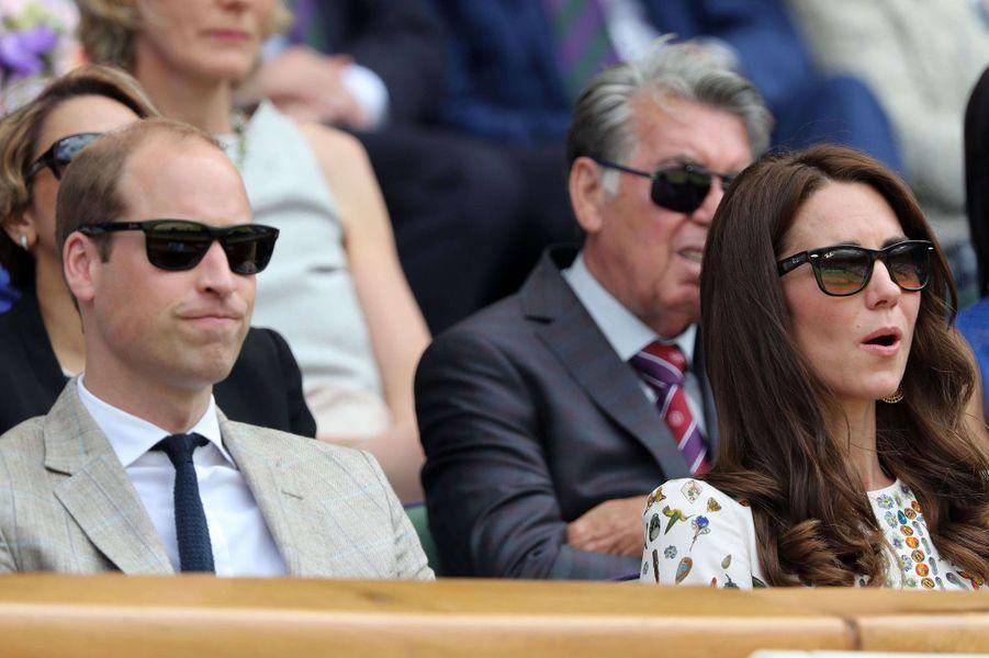 Kate Middleton et le prince William à Wimbledonen 2016