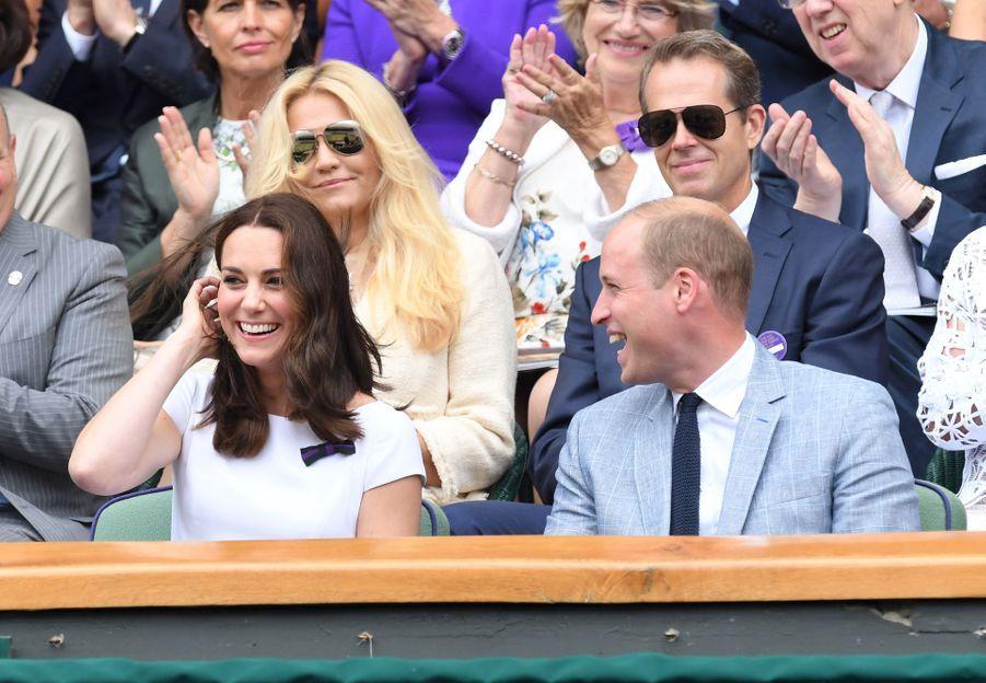 Kate Middleton et le prince William à Wimbledonen 2017