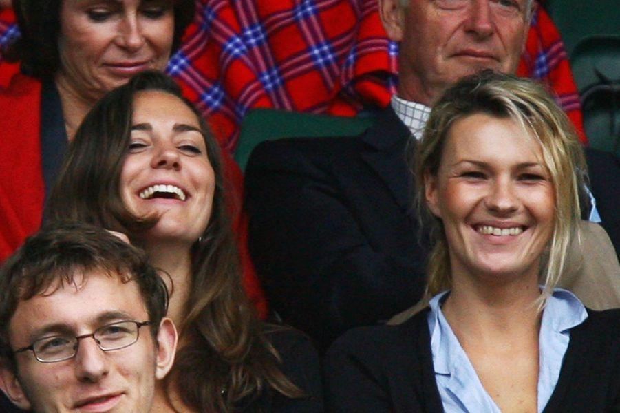 Kate Middleton et une amie à Wimbledon en 2007