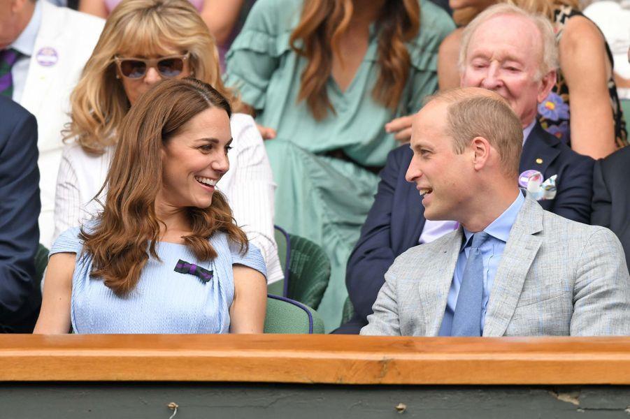 Kate Middleton et le prince William à Wimbledon le 14 juillet 2019