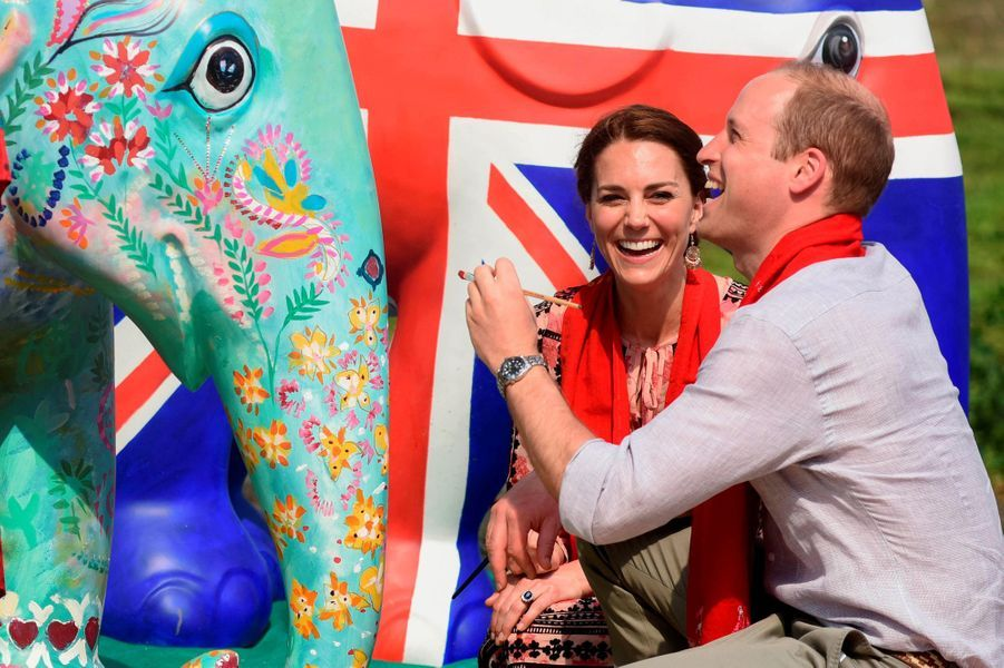 Le prince William et la duchesse Catherine au parc national de Kaziranga, le 13 avril 2016