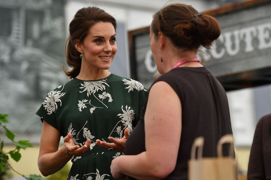 La duchesse de Cambridge, née Kate Middleton, au Chelsea Flower Show à Londres, le 22 mai 2017