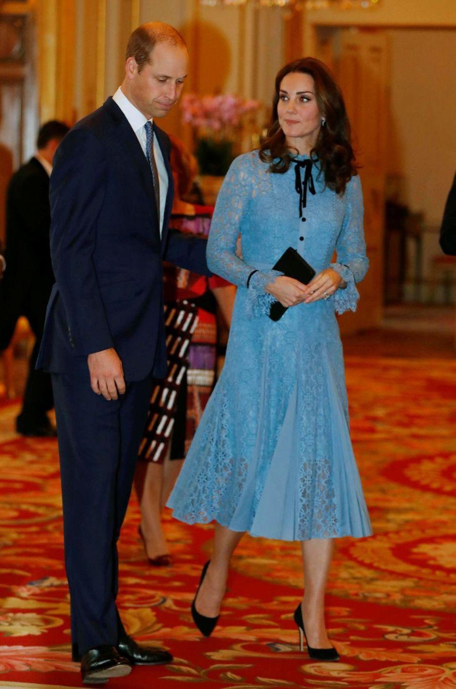 La duchesse Catherine de Cambridge à Londres le 10 octobre 2017