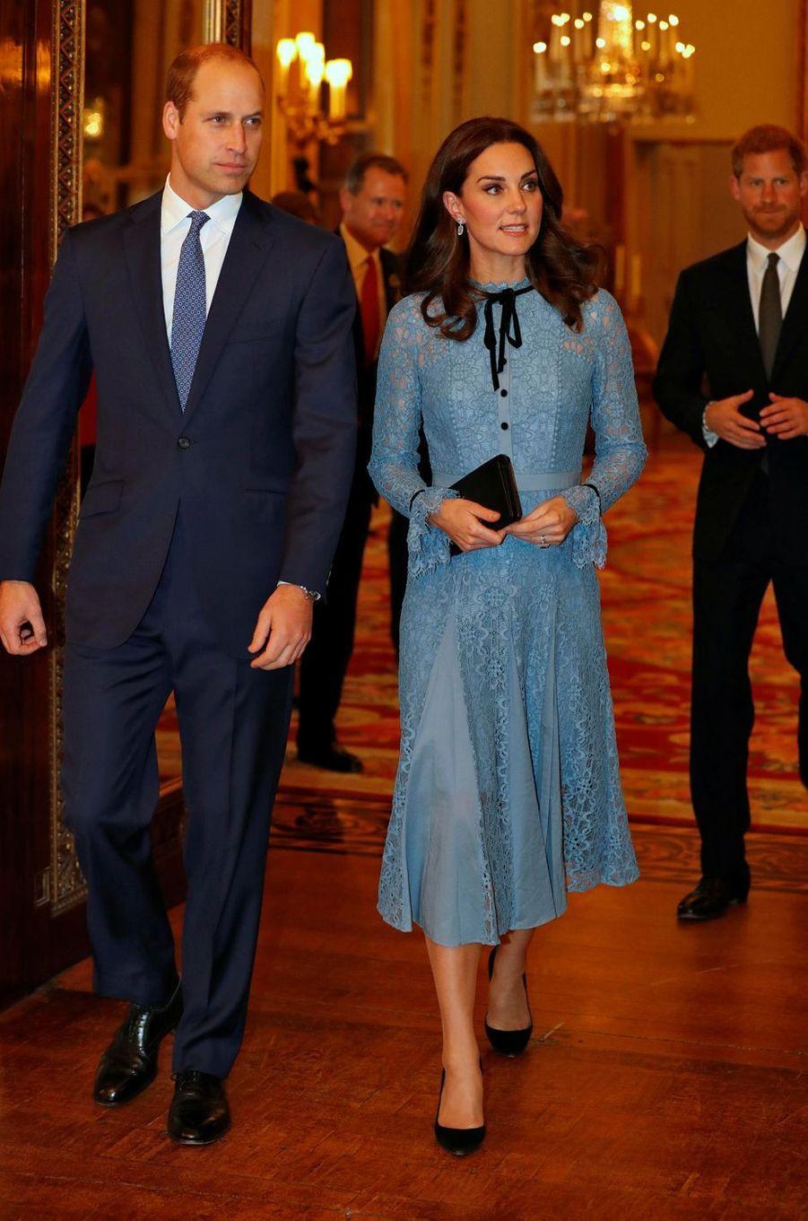 Kate Middleton enceinte, à Londres le 10 octobre 2017